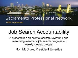 Job Search Accountability