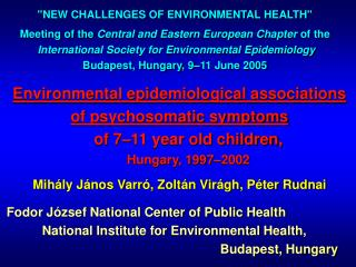 Environmental epidemiological associations of psychosomatic symptoms of 7–11 year old children,