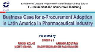 Executive Post Graduate Programme in e-Governance (EPGP-EG), 2013-14