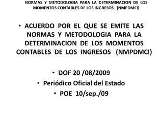 I.-      Sistema de Contabilidad Gubernamental (SCG)