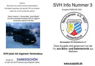 SVH Info Nummer 3