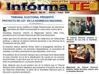 Año 4    No.19      marzo – mayo  2006
