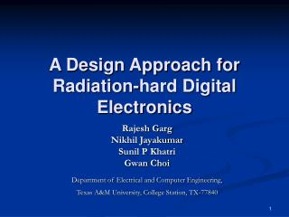 A Design Approach for Radiation-hard Digital Electronics
