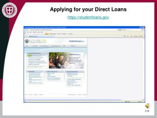 Applying for your Direct Loans https://studentloans