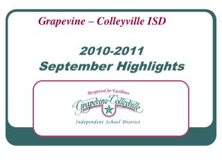 2010-2011 September Highlights