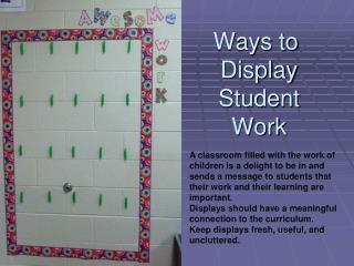 Ways to Display Work