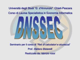 """Università degli Studi """" G. d'Annunzio """"  Chieti-Pescara"""