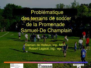 Proposition d'aménagement  des terrains de soccer de la Promenade  Samuel-De Champlain