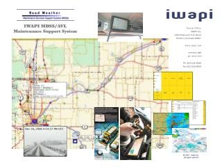 IWAPI MDSS/AVL Maintenance Support System