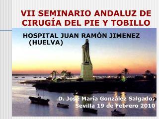 VII SEMINARIO ANDALUZ DE CIRUGÍA DEL PIE Y TOBILLO