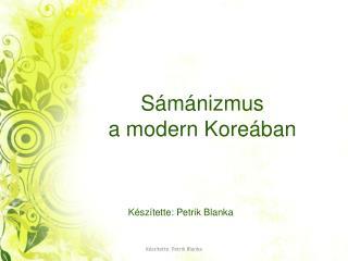 S�m�nizmus  a modern Kore�ban