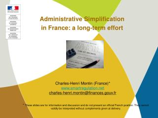 Administrative Simplification in France: a long-term effort