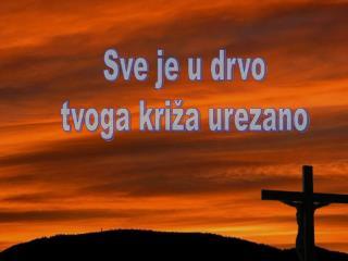 Sve je u drvo tvoga križa urezano