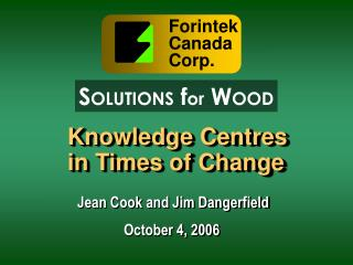 Knowledge Centres in Times of Change