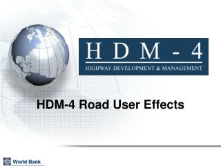 HDM-4 Road User Effects