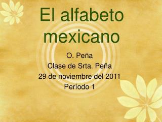 El alfabeto mexicano