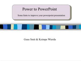 Power to PowerPoint