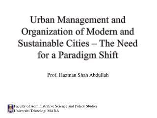 Prof. Hazman Shah Abdullah