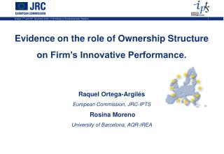 Evidence on the role of Ownership Structure  on Firm's Innovative Performance.