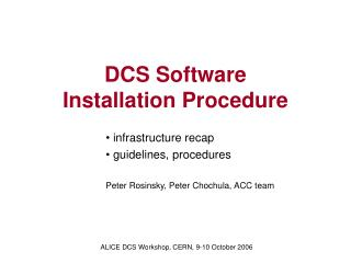 DCS Software Installation Procedure
