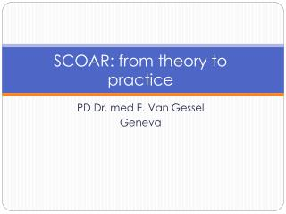 SCOAR: from theory to practice