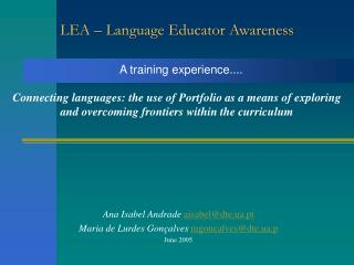 LEA – Language Educator Awareness