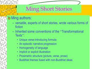 Ming Short Stories