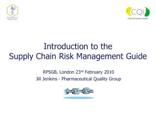 Introduction to the Supply Chain Risk Management Guide