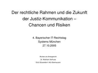 Richter am Amtsgericht Dr. Wolfram Viefhues OLG Düsseldorf / AG Oberhausen