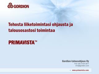 Gordion-talousohjaus Oy Puh (09) 4134 3611 info@gordion