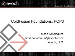 ColdFusion Foundations: POP3