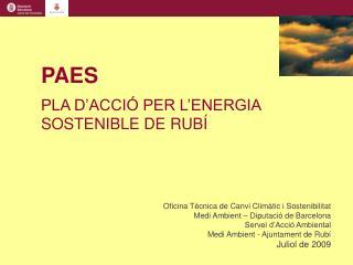 Oficina Tècnica de Canvi Climàtic i Sostenibilitat Medi Ambient – Diputació de Barcelona