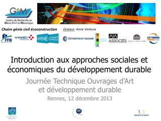 Introduction aux approches sociales et économiques du développement durable