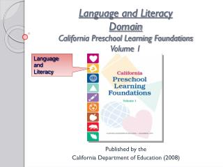 Language and Literacy  Domain California Preschool Learning Foundations Volume 1