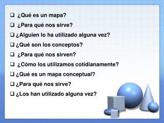 ¿Qué es un mapa?  ¿Para qué nos sirve? ¿Alguien lo ha utilizado alguna vez?