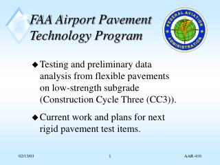 FAA Airport Pavement Technology Program
