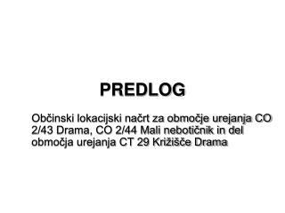 PREDLOG