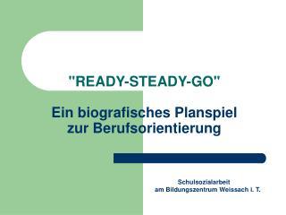 """""""READY-STEADY-GO"""" Ein biografisches Planspiel  zur Berufsorientierung"""