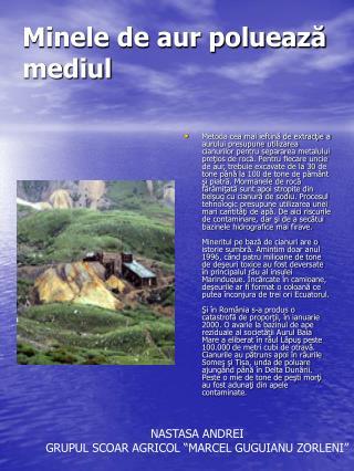 Minele de aur poluează mediul
