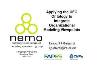 Applying the  UFO  Ontology  to  Integrate Organizational Modeling Viewpoints