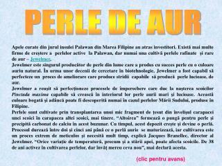 PERLE DE AUR