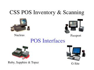 CSS POS Inventory & Scanning