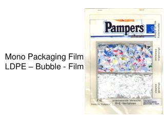 Mono Packaging Film LDPE – Bubble - Film