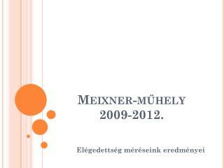 Meixner-műhely 2009-2012.