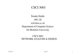 CSCI 3003