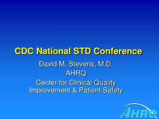 CDC National STD Conference