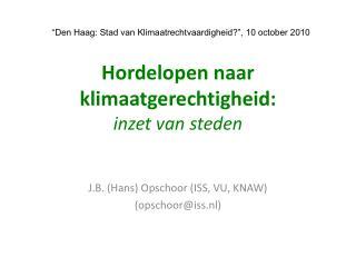 Hordelopen naar klimaatgerechtigheid: inzet van steden