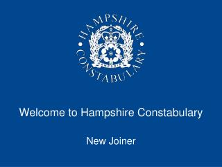 Welcome to Hampshire Constabulary