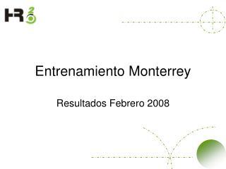 Entrenamiento Monterrey