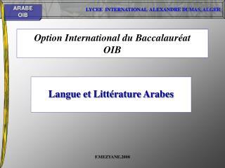 Option International du Baccalauréat OIB
